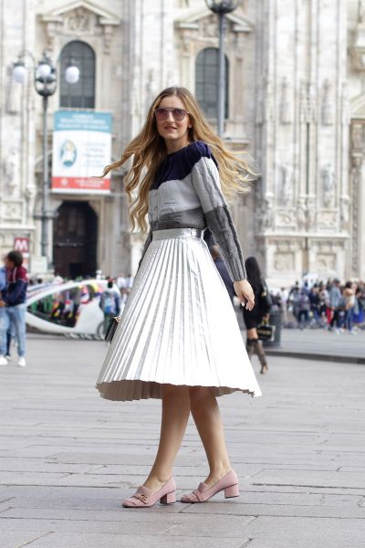 Pleat skirt in Duomo